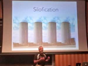 Vern talking about department silos